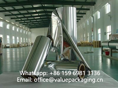 vacuum metallized film by china producer