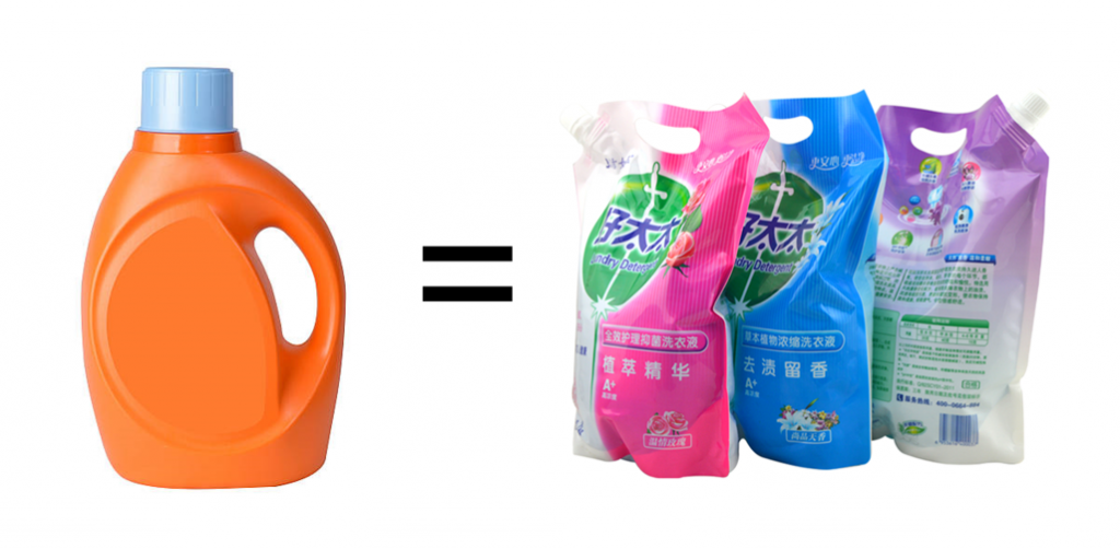 cost-compare-ofSpout-doypack-and-plastic-bottle-laundry-detergent