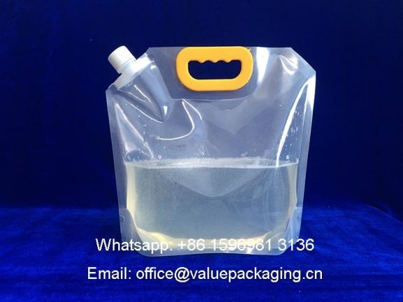 3Liter-short-fat-Spout-Pouch-clear-package