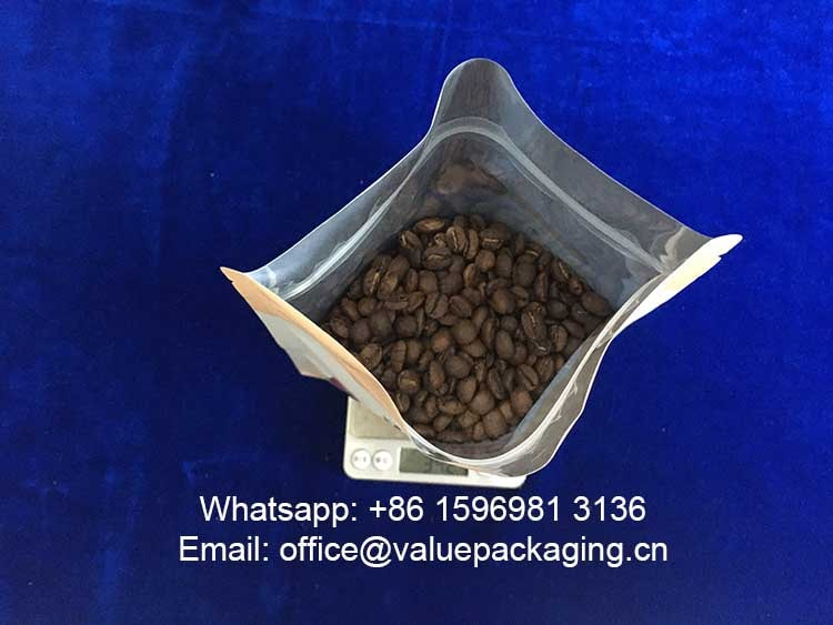 volume-test-340grams-coffee-beans-bottom-gusseted-coffee-pouch
