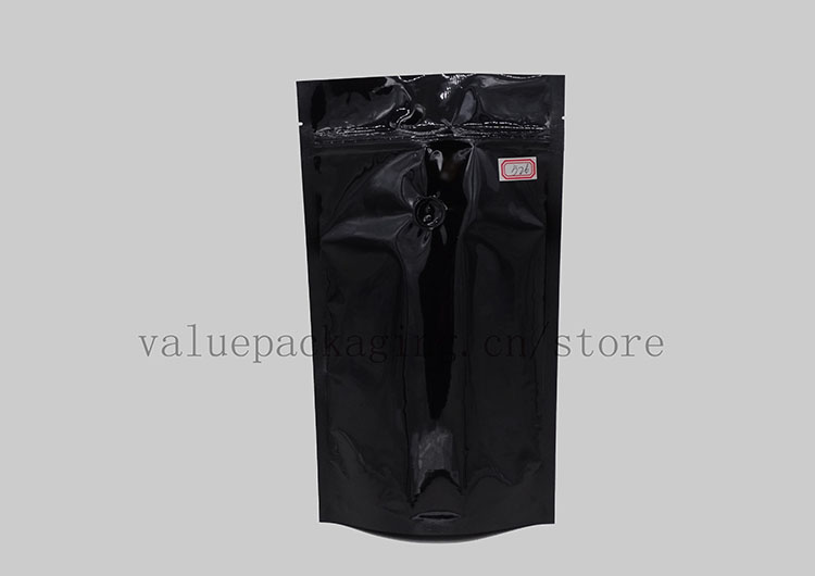 high-quality-high-glossy-black-doypack-for-coffee-beans-400grams