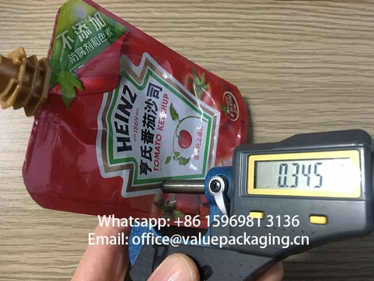 170microns-for -Heinz-Spout -Pouch-120g Tomato-ketchup