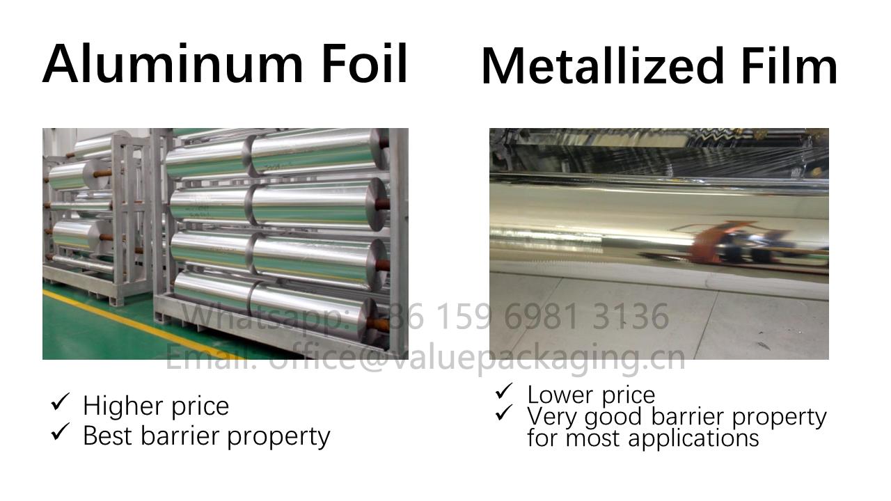 aluminum foil VS metallized film